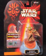 Yoda w/Jedi Council Chair Htf Star Wars ( 1998 ) Action Figure & Commtech Chip