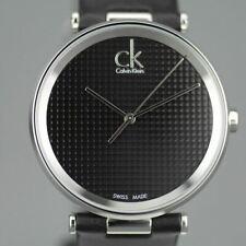 Calvin Klein Sight Quartz Black Dial Swiss wrist watch with leather strap
