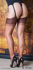 Strapsstrümpfe Nylonstrümpfe  RHT Nylons Gr. S bronze Stockings 100% Nylon