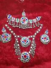 fghan Jewelry Kuchi full set sliver, Vintage Necklace, Afghan earnings ,