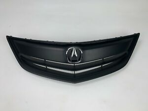 FIt 2013 2014 2015 Acura ILX /Hybrid All BLACK Grille Grill W/ Emblem Assembly
