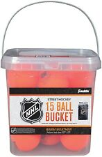 Franklin Sports NHL Street Hockey Ball Buckets (15-Piece), Orange, 2 5/8-Inch