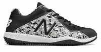 New Balance Low-Cut 4040V4 Turf Baseball Cleat Mens Shoes Black With White
