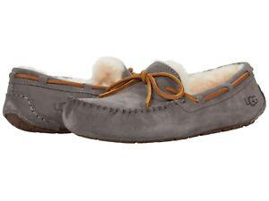 Women's Shoes UGG DAKOTA Suede Indoor/Outdoor Moccasin Slippers 1107949 PEWTER