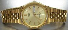 Day/Date Quartz Men's Watch (6100-S38222) Vintage Citizen Gold-Tone Water Resist