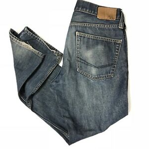 Bullhead Jeans Slim 31x29 Mens Gravels Distressed Blue Denim