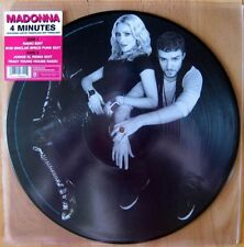 """MADONNA - 4 MINUTES - 12"""" VINYL PICTURE DISC BRAND NEW 2008 - JUSTIN TIMBERLAKE"""