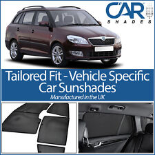 Skoda Fabia Estate 07-14 UV CAR SHADES WINDOW SUNBLINDS PRIVACY GLASS TINT BLACK
