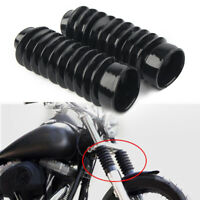 2PCS Rubber Fork Boots Gators Cover for Harley Dyna FXDWG FXWG Softail FXST 41mm