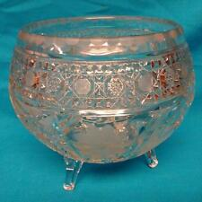 Large Crystal 3-Footed Bowl