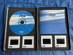 Genuine Ford RS Focus MK1 Press Release Tin Pack - DVD, BOOKLET, SLIDES