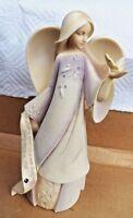 Enesco  Foundations Angels February Amethyst Birth Stone Figurine 2009