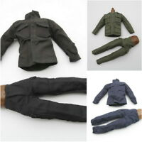 1/6 Scale Uniforms Coveralls Lots Of 3 BLACK SWAT Army Ranger Fit HT B005 Body
