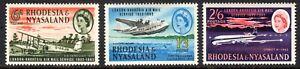 RHODESIA AND NYASALAND   ..1962  air mail service   sg 40-42    LMM