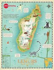 """ISLAND OF LEMURS 3D -13""""x17"""" Original Promo Movie Poster MINT 2014 AMC Exclusive"""