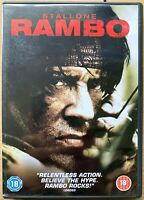 Rambo DVD 2008 First Blood John 4 Action Film Movie with Sylvester Stallone