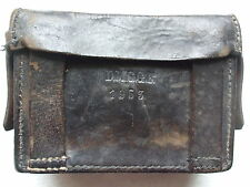 VINTAGE 1953 BROWN LEATHER ARMY AMMO BELT POUCH BRASS STAMPED D.M.G.G.F ORIGINAL