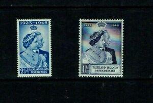Falkland Islands Dependencies: 1948 Silver Wedding,  Mint set