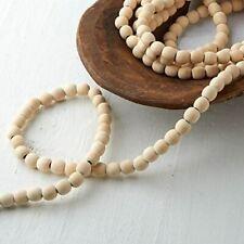 Factory Direct Craft Natural Wood Bead Garland