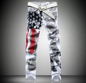 Mens Ripped Skinny Jeans Distressed Frayed Biker Slim Fit Denim Pants Trousers