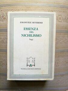 Emanuele Severino Essenza Del Nichilismo