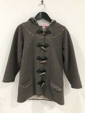 Super Cute Girls RipCurl Hoodie Jacket Brown Button Up Junior Girls Size 10