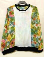 Floral sweater with beige front panel