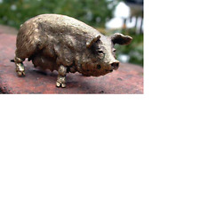 Small Solid Bronze Pig  Miniature by N.Fedosov.