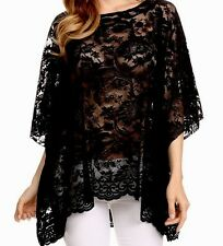 New Hot Sexy Comfy Plus Lace Tunic Kimono 3X Tag $126 Bohemian Made in US