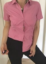 KATHMANDU WOMENS SHIRT TOP BUTTONS TAILORED PINK POCKETS SPORT PLEASURE SZ 10