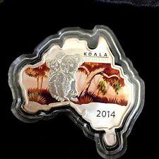 Australian Map Shaped Coin Series – Koala 2014 1oz Silver Coin