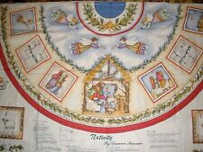 "Nativity 54-56"" Tree Skirt 2 Panels Dianna Marcum Marcus Bros Fabric Christmas"
