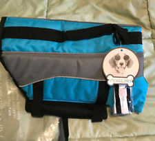 Vivaglory Ripstop Dog Life Jacket Safety Vest Buoyancy & Rescue Handle MEDIUM