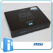 Placa base x99 MSI X99A SLI PLUS USB3.1 Socket 2011 V3 con Accesorios