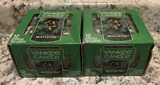 (24) Yankee Candle Company Mistletoe Tea Lights Holiday FREE SHIP
