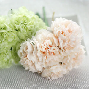 1 Bouquet 5 Heads Artificial Fake Peony Silk Flower Wedding Party Home Decors