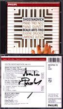 Menahem PRESSLER Signed SHOSTAKOVICH Piano Trio No.2 Quintet BEAUX ARTS TRIO CD