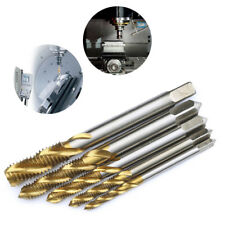5PCS Titanium Spiral Flute Tap M3 M4 M5 M6 M8 High Speed Steel HSS Screw Tools