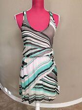 Ella Moss Green White Summer Dress Size XS