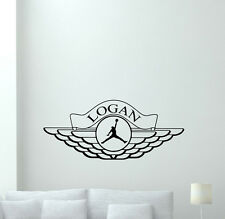 Personalized Name Air Jordan Wall Decal Basketball Vinyl Sticker Custom 148nnn