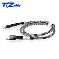 Hi-End OCC USB Audio Cable Silver Plated DAC Data USB Cable Type A B Hifi Cables