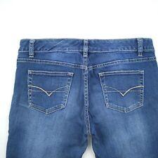 Just Jeans Blue Mid Rise Stretch Denim 3 Quarter Jeans Women's Size 11 W32