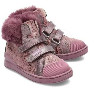 Biomecanics Girls Boots In Brown Rose With Faux Fur Cuff (Clearance Price)