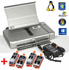 PORTABLE PRINTER CANON PIXMA IP100 FOR WIN XP 7 8 10 + 2 SETS INK TANKS EXTRA