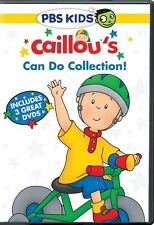 CAILLOU CAN DO COLLECTION New 3 DVD Big Kid + Everyday Hero + World of Wonder