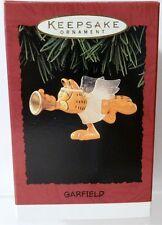 GARFIELD ANGEL CAT Playing A Trumpet 1995 HALLMARK Keepsake Ornament New in Box