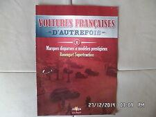 MAGAZINE VOITURES FRANCAISES D'AUTREFOIS N°51 ROSENGART SUPERTRACTION G84