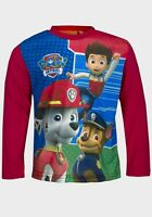 BOYS CHARACTER PAW PATROL CHASE MARSHALL LONG SLEEVE SHORT SLEEVE T-SHIRTS TOPS