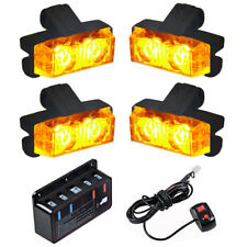 16 LED Amber Yellow Light Grill Construction Utility Warning Strobe Flash Hazard