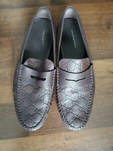Gucci Interlacing GG Men's Driving Shoes Size 10 USA